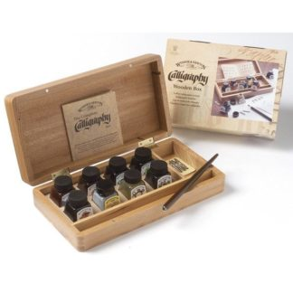 winsor and newton calligraphy wooden box set
