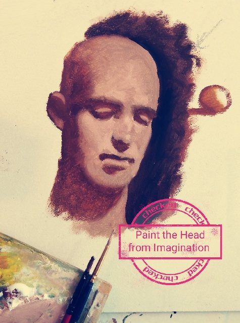 paint the head from imagination