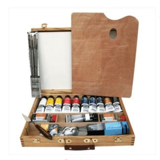 daler rowney cryla acrylic wooden box set