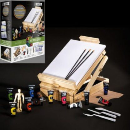 campus acrylic table easel set