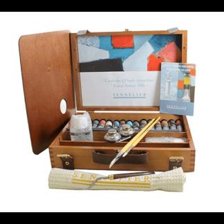 sennelier oil paint wooden box set of 12